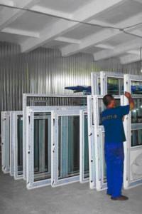 production of plastic windows