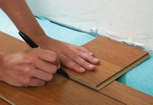 put a laminate on uneven floor