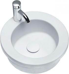 round recessed sink