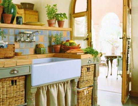 Кухня в деревенском доме дизайн фото