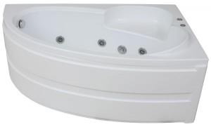 set the corner acrylic bath