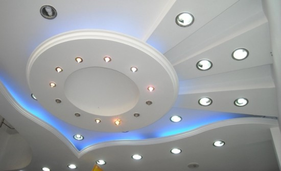 spotlights on the ceiling