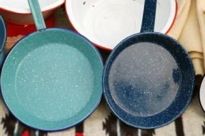 wash pan of sludge